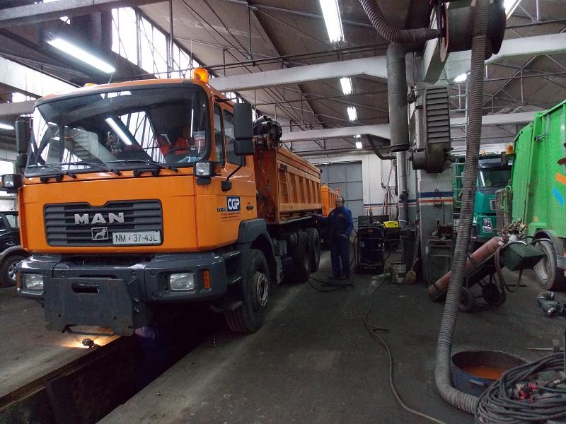 Servis tovornega vozila MAN